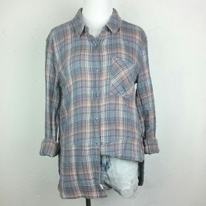 Melrose and Market Plaid Flannel Shirt